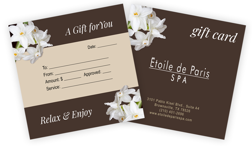 Spa Gift Cards Brownsville Tx